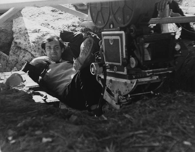 Kubrick on the set of Spartacus