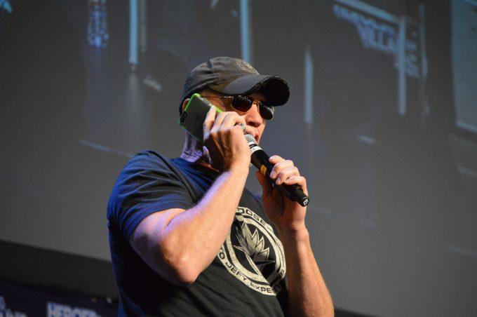 Michael Rooker (Yondu Udonta) calling Guardians of the Galaxy director James Gunn .