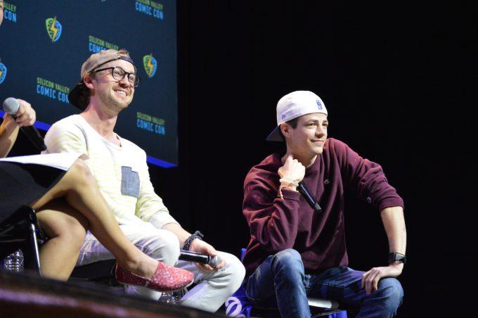 Tom Felton, Grant Gustin of The Flash 4