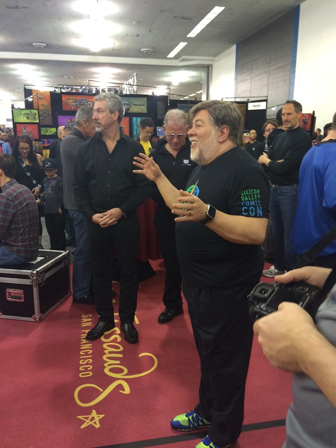 In case you weren't able to catch the original, Steve Wozniak's wax twin was available for photos.