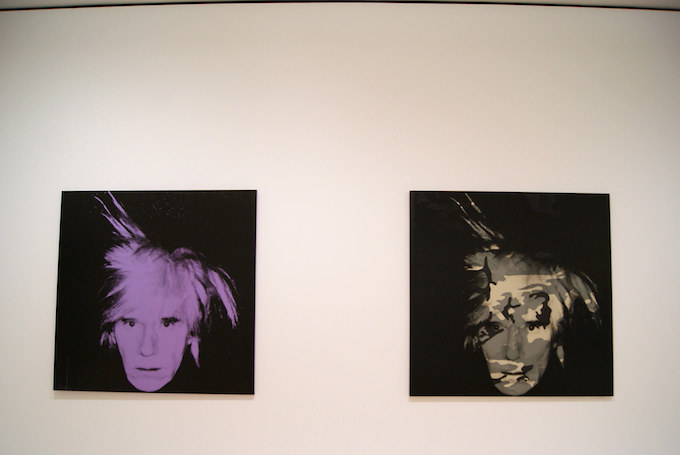 Self portrait, Andy Warhol
