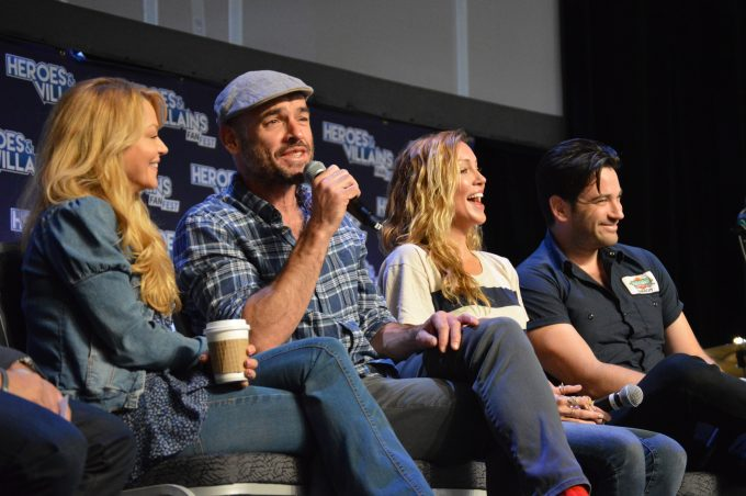 Charlotte Ross (Felicity Smoak's mother), Paul Blackthorne (Detective Quentin Lance), Katie Cassidy (Black Canary), Colin Donnell of Arrow 4
