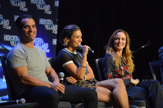 Jonathan Schaech (Jonah Hex), Ciara Renee (Hawkgirl), Caity Lotz (White Canary).
